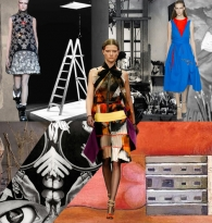 COLLAGE: NOMAD CHIC Spirit : Pioneer Female Artists of the 20th Century: Fall 2014 Runway Fashions