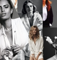 COLLAGE: THE PERFECT NOMAD CHIC STYLE STAPLE: A WHITE BUTTON DOWN SHIRT