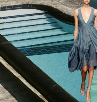 RUNAWAY BLUES : DONNA KARAN  &  SWIMMING   POOL