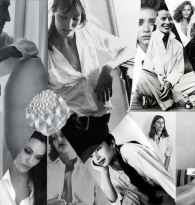 COLLAGE: STYLE: WHITE SHIRT IN FILM & MUSIC FASHION