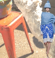 STYLE : RUNWAY RUNAWAY BLUES Fall 2014 Fashion : Plastic Buckets by Mirabelle Marden