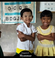 TRAVEL: MYANMAR DISPATCH BY GIGI STOLL : CHARITY