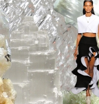 WAVES OF ENERGY : Crystals & Style Ruffles  :   Balenciaga  &   Selenite