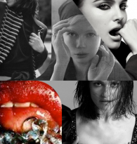 COLLAGE : FILM ACTRESS  & RED LIPS