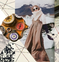 SPIRIT COLLAGE:  WINTER WHISPERS & WAKING THE WILD WOMAN by DO IT GIRL Sarah Durham Wilson