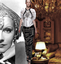 GYPSY CARAVAN OF RUNWAY DREAMS :  GRETA GARBO & PRABAL GURUNG