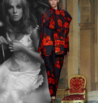 GYPSY CARAVAN OF RUNWAY DREAMS : JULIE CHRISTIE & GIAMBATTISTA VALLI