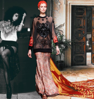 GYPSY CARAVAN OF RUNWAY DREAMS : LISA BONET & GIVENCHY