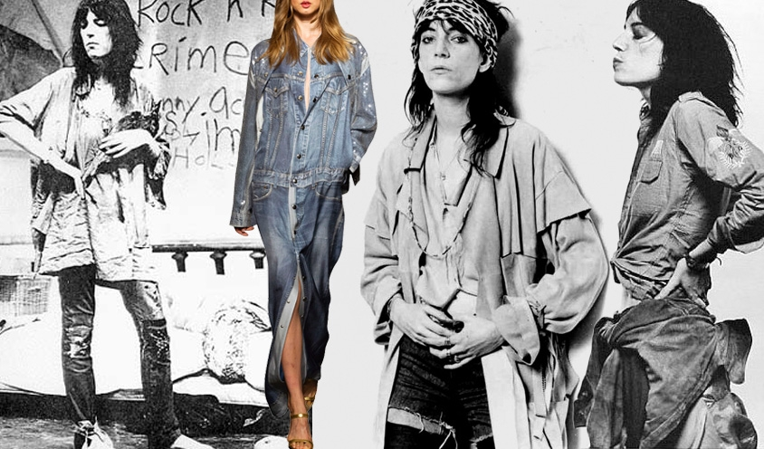 Denim Dames : Jean Paul Gaultier &Patti Smith