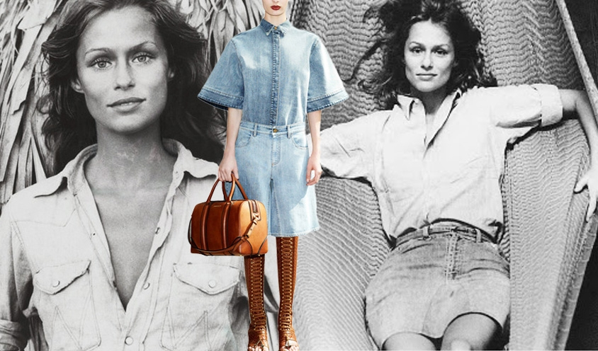 Denim Dames : Givenchy &Lauren Hutton