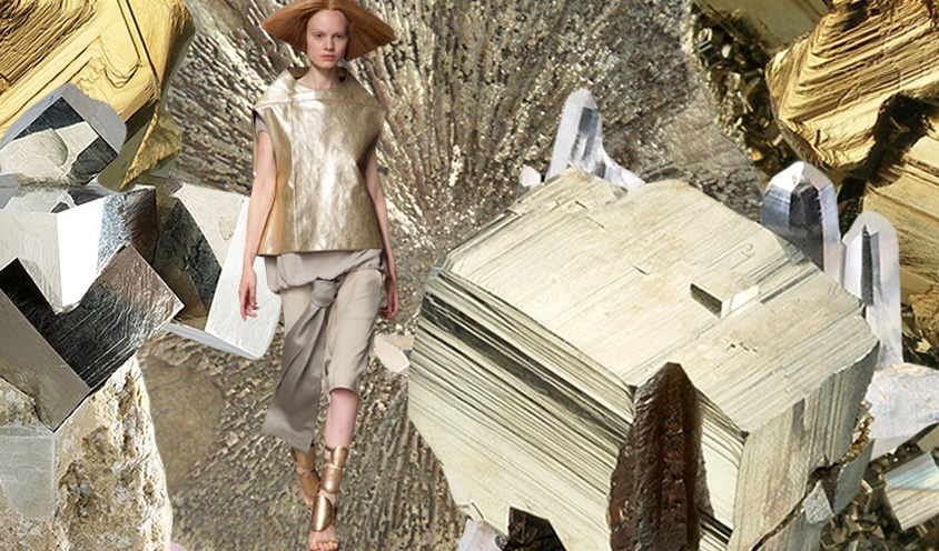 WAVES OF ENERGY : Crystals & Style Ruffles :  Rick  Owens & Pyrite
