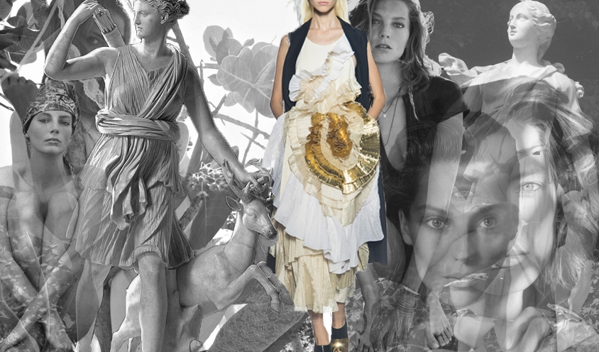 STYLE : GREEK GODDESSES & SUPERMODELS : Daria Werbowy & Artemis