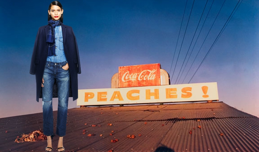 STYLE : RUNWAY RUNAWAY BLUES Fall 2014 Fashion : William Eggleston by Mirabelle Marden