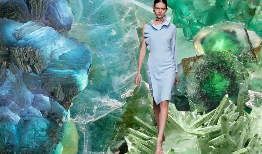 WAVES OF ENERGY : Crystals & Style Ruffles :  Givenchy  & Flourite