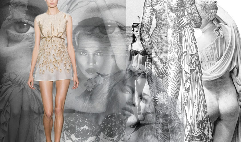 STYLE : GREEK GODDESSES & SUPERMODELS : Kate Moss & Aphrodite