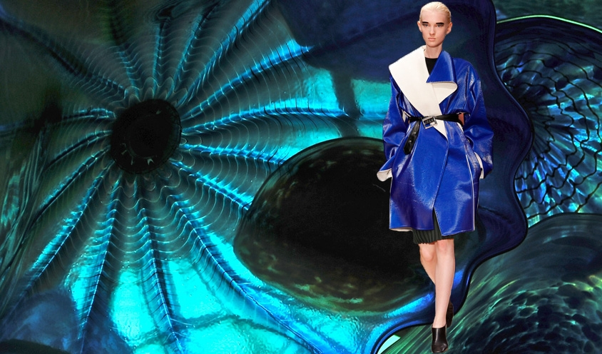 STYLE : RUNWAY RUNAWAY BLUES Spring 2014 Fashion : Dale Chihuly