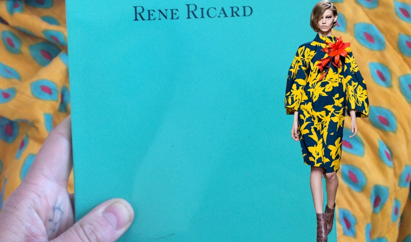STYLE : RUNWAY RUNAWAY BLUES Fall 2014 Fashion : Rene Ricard by Mirabelle Marden